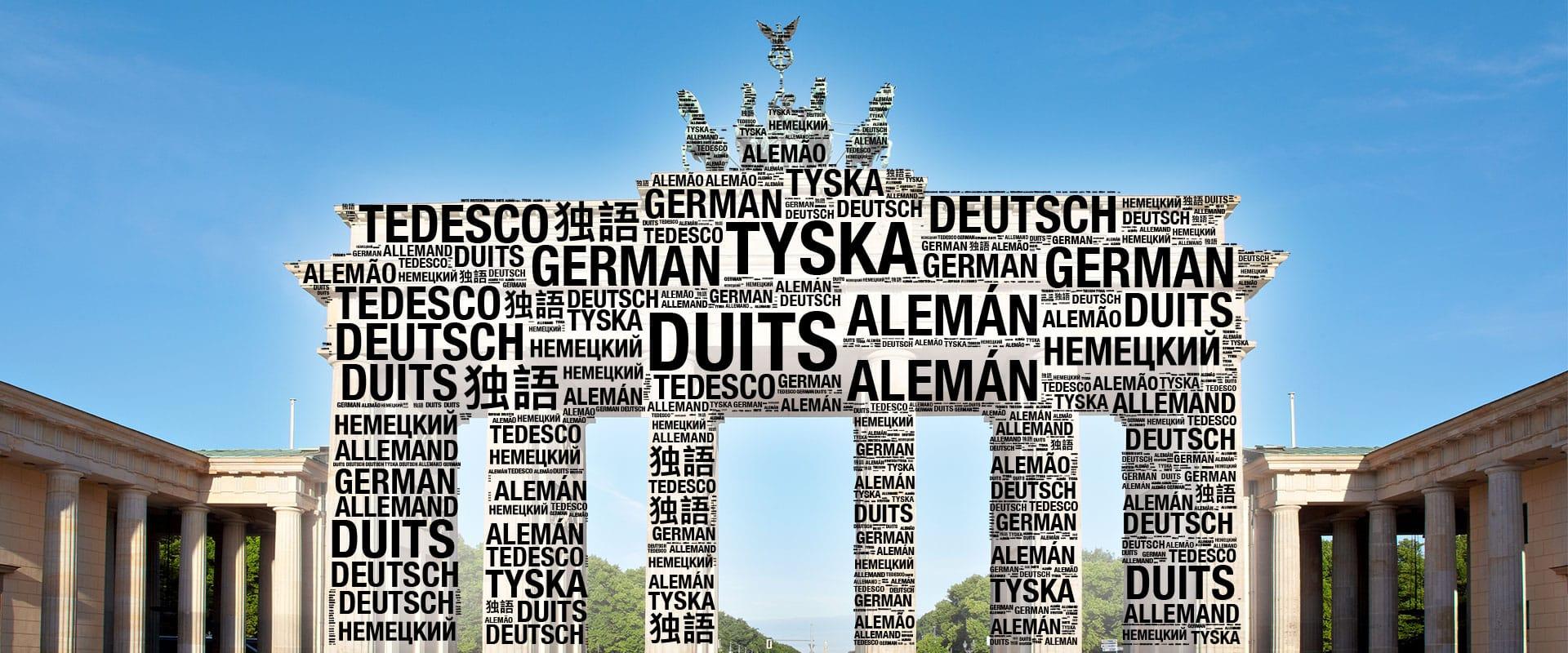Brandenburger Tor Wortwolke - Übersetzungen München