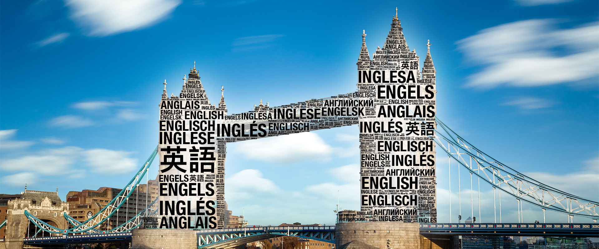 Tower Bridge Wortwolke - Übersetzungsbüro München